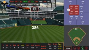 HitTrax training session screen