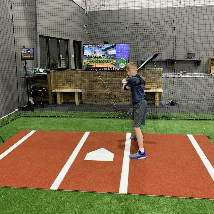 The Lab BCS hitting facility cage view