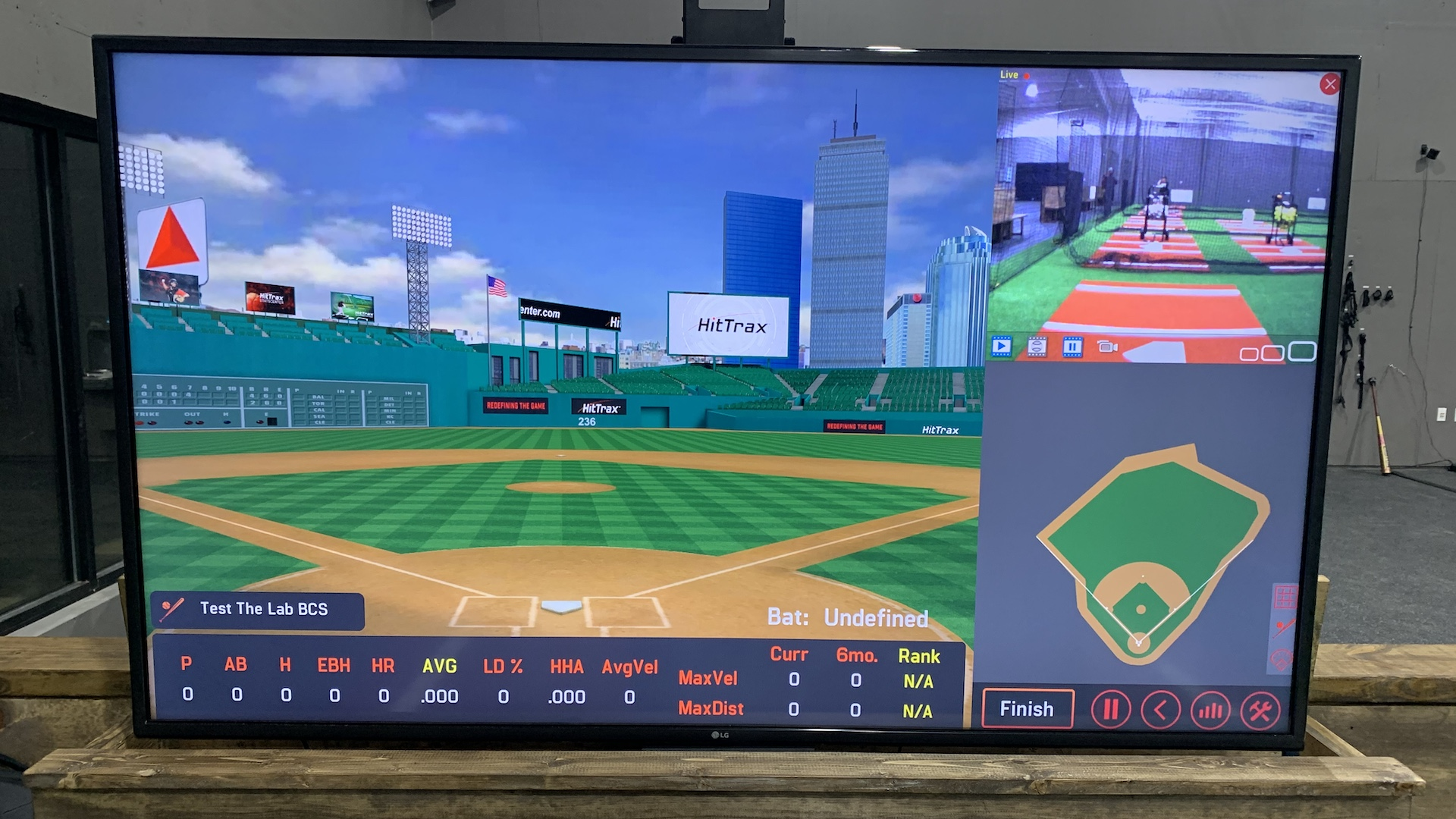 The Lab HitTrax monitor