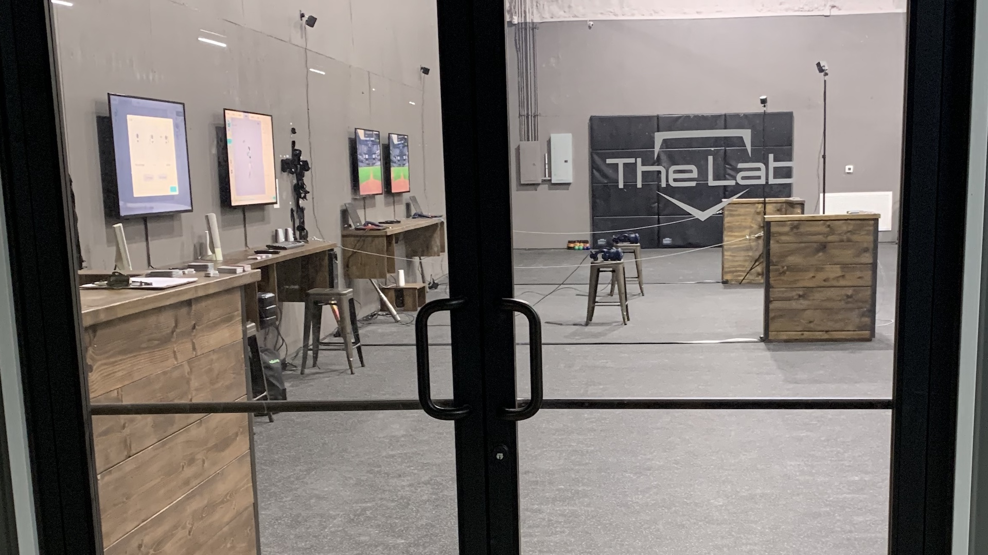 The Lab hitting facility entrance